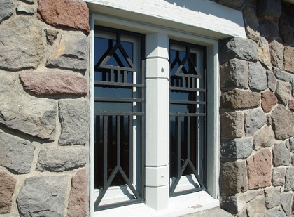 Security window grills windows for Exterior window grill design