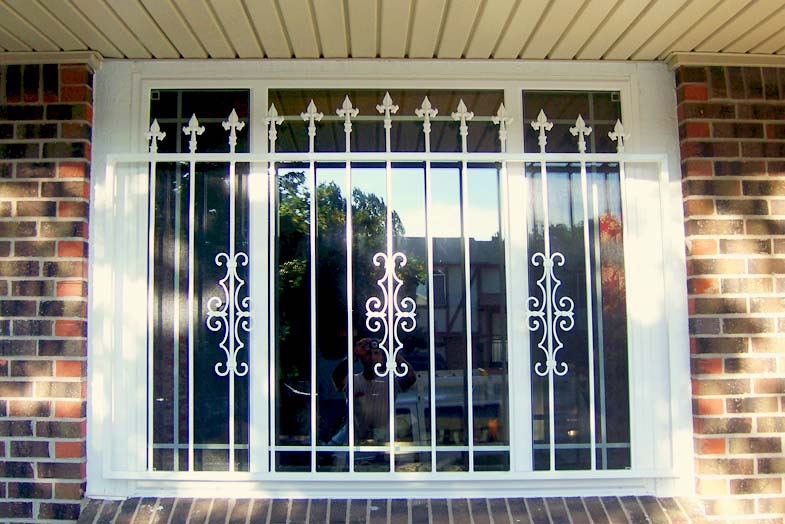 East orange window bars windows for Window bars design